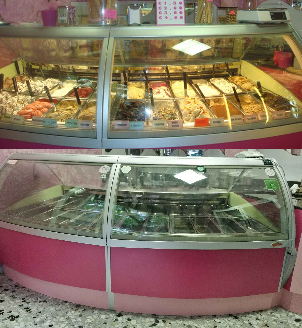 Vendo banchi gelateria